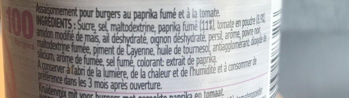 Mélange Burger Fumé - Ingredients - fr