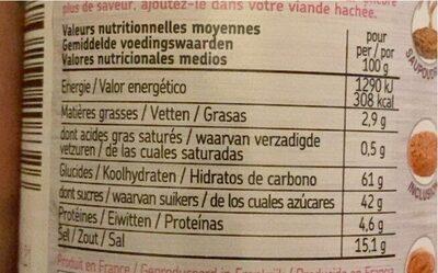 Mélange Burger Fumé - Nutrition facts - fr