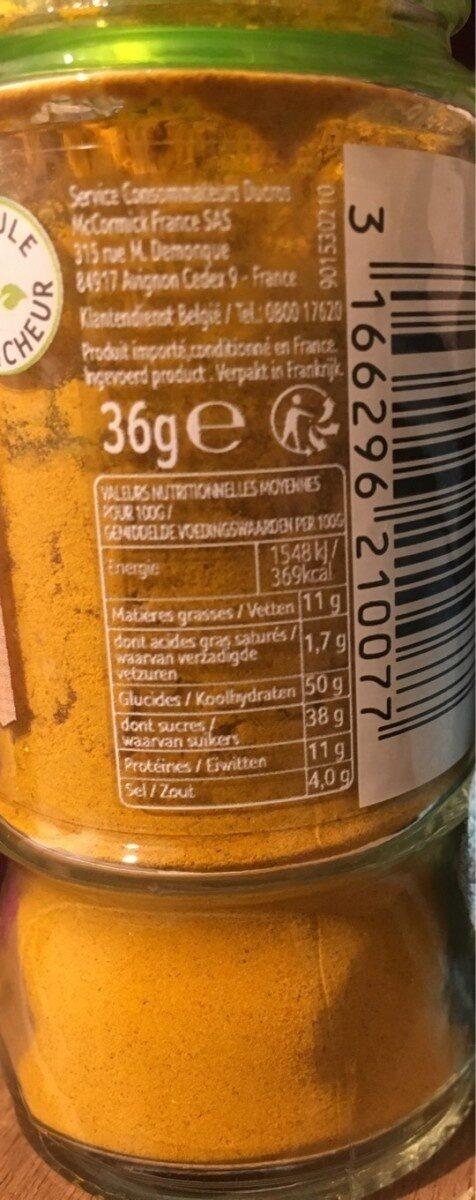Curry en poudre - Nutrition facts - fr