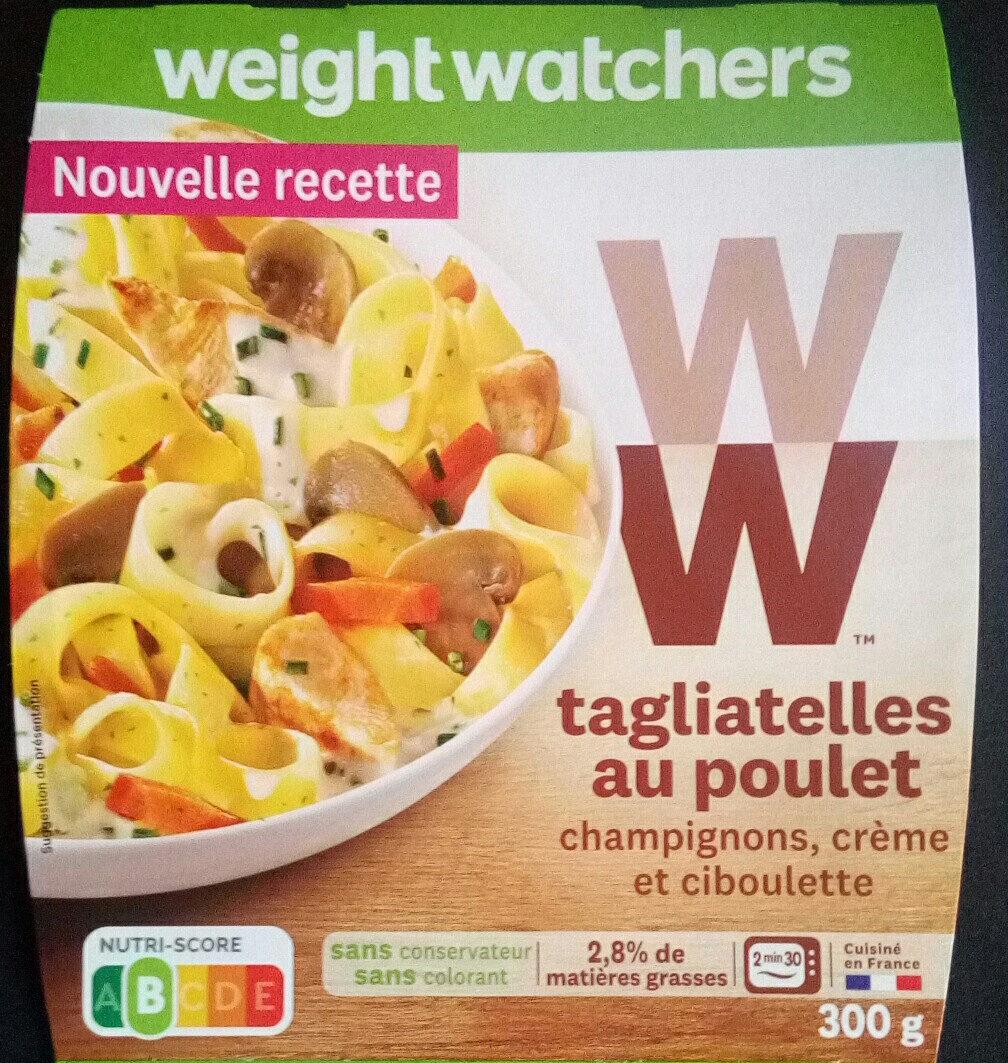 Tagliatelles au Poulet, Champignons, Crème - 产品 - fr
