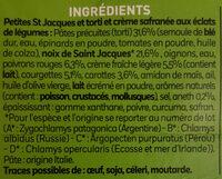 Petites st Jacques et torti - Ingrédients - fr