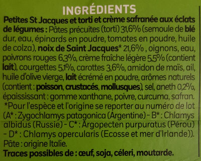 Petites st Jacques et torti - Ingredients - fr