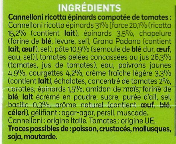 Cannelloni Ricotta et Epinards - Ingrédients - fr