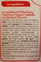 Petites gambas, compotée de tomates et tagliatelles au pesto - Ingrédients - fr