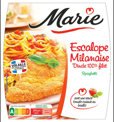 Escalope Milanaise Dinde 100% Filet, Spaghetti - Product - fr