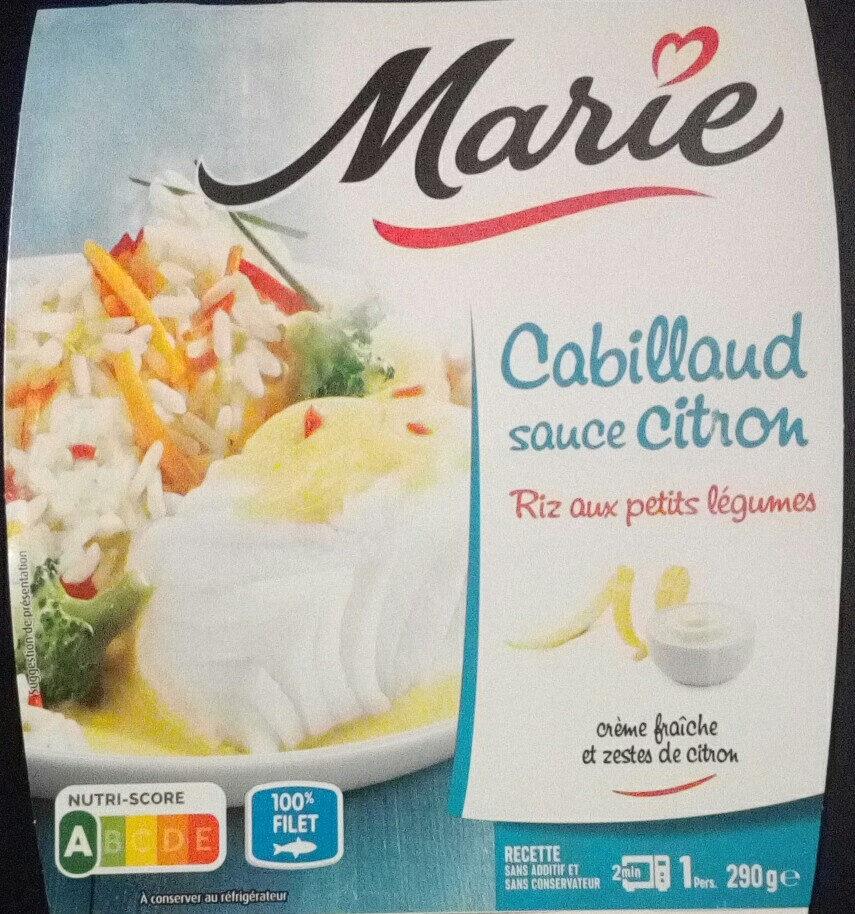 Cabillaud Sauce Citron, Riz aux Petits Légumes - 产品 - fr