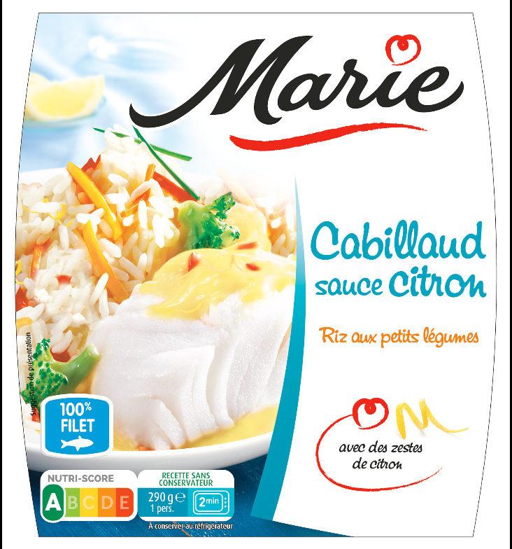 Cabillaud Sauce Citron, Riz aux Petits Légumes - Produit