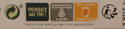 Paupiette de veau jardinière de légumes - Recyclinginstructies en / of verpakkingsinformatie - fr