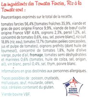 Tomates Farcies, riz à la tomate - Ingredients - fr