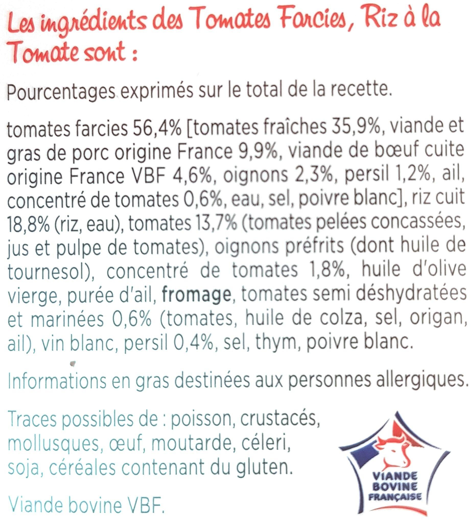 Tomates Farcies, riz à la tomate - Ingrediënten - fr