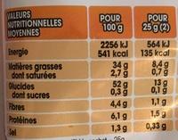Chips Nature - Voedingswaarden - fr