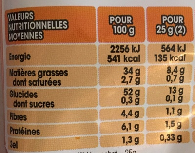 Lay's nature - Informations nutritionnelles - fr