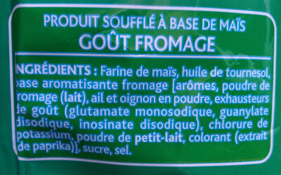 3D's Bugles, Goût Fromage - Ingredients - fr