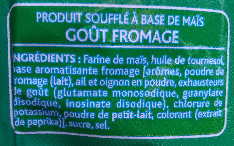 3D's Bugles, Goût Fromage - Ingredients - fr