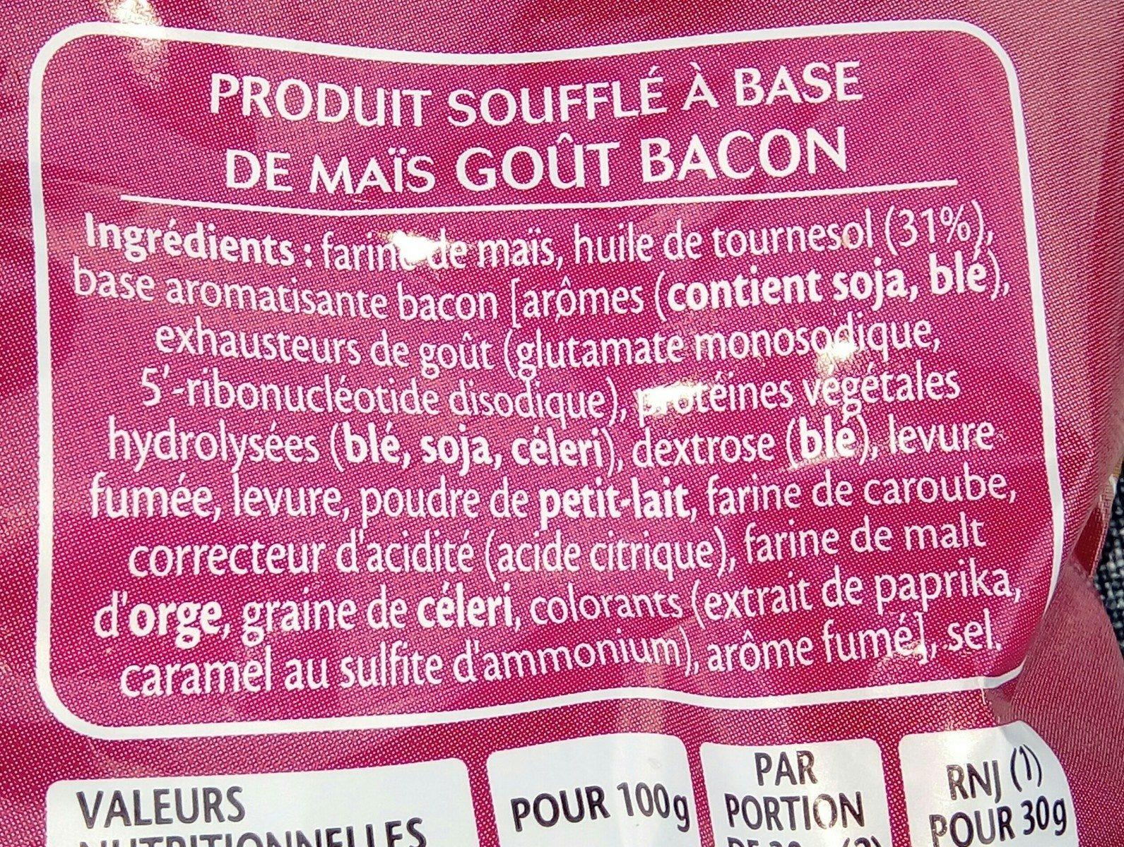 3D's Bugles - Goût bacon - Ingredients