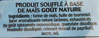 Bénénuts 3D's Bugles goût nature - Ingredienti - fr