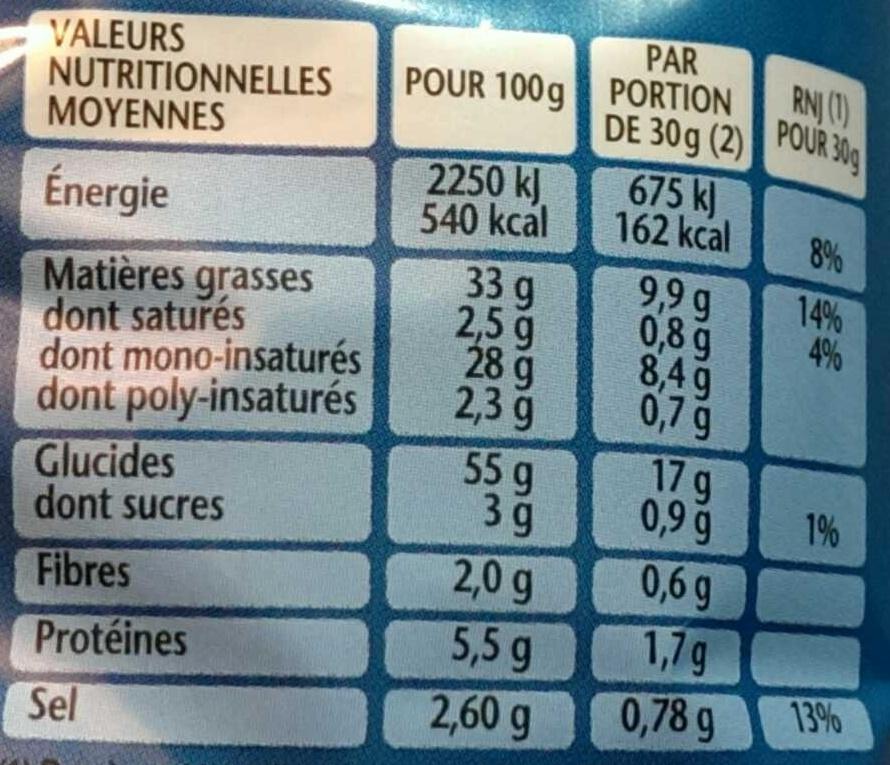 3D's Bugles Goût Nature - Informations nutritionnelles - fr
