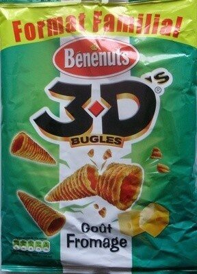 3D's Bugles, Goût Fromage (Format Familial) - Product - fr