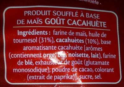 3D's Bugles, Goût Cacahuète - Inhaltsstoffe