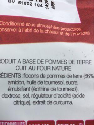 Cuites au four nature - Ingrédients - fr