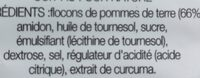 Lay's Cuites au four nature - Ingrediënten - fr