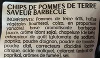 Chips - Saveur Barbecue - Ingredients
