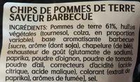 Chips - Saveur Barbecue - Ingrédients