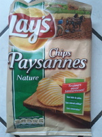 Chips paysannes nature - Product - fr