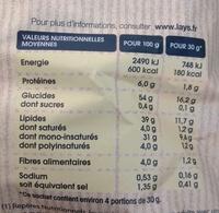 Chips à l'ancienne nature - Nutrition facts