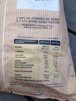Chips à l'ancienne nature - Voedingswaarden - fr
