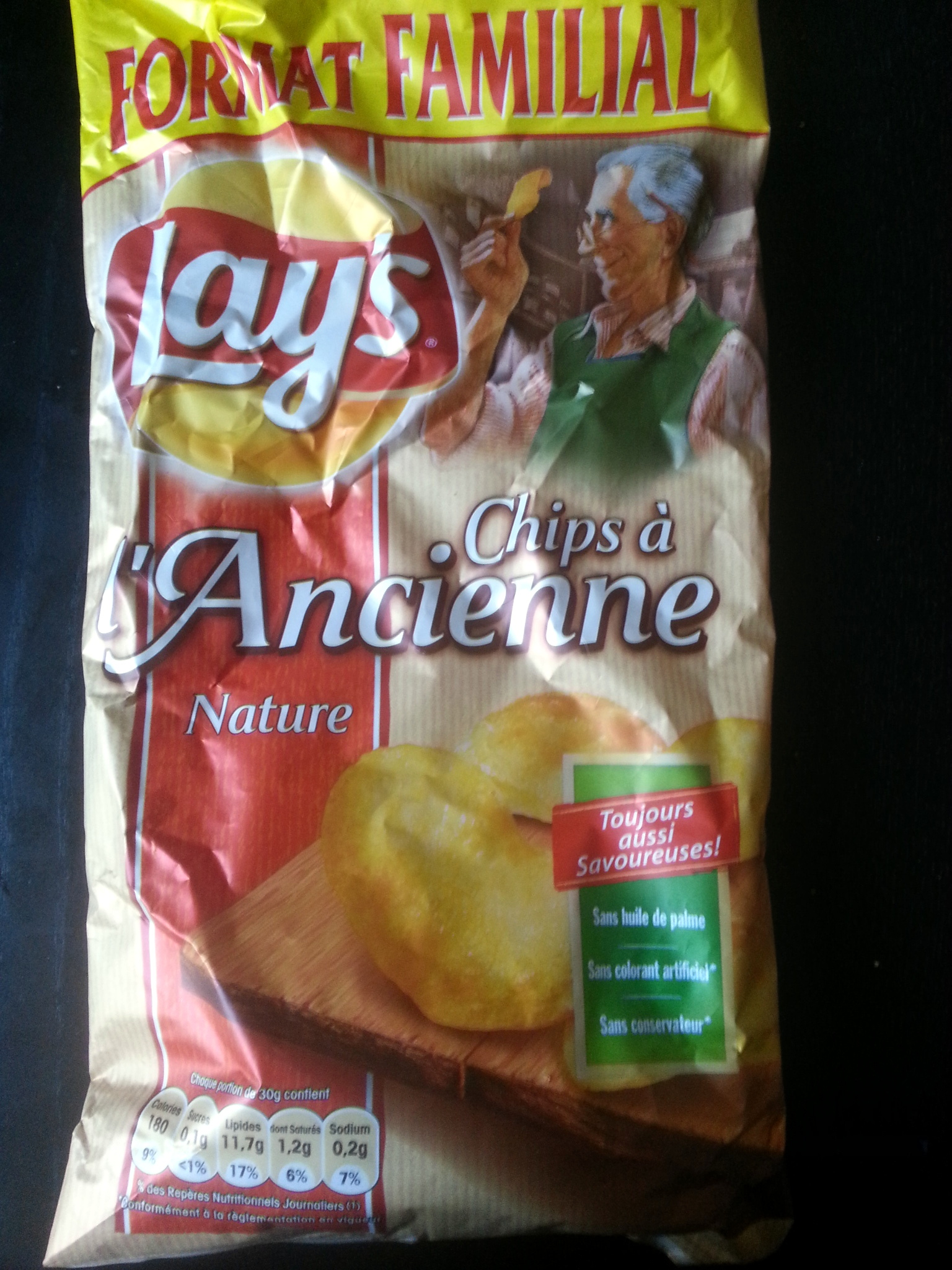 Chips à l'ancienne Nature (format familial) - Produit - fr