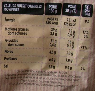 Chips à l'ancienne Nature (format familial) - Informations nutritionnelles - fr