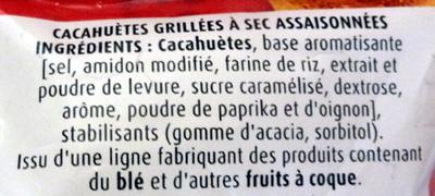 Cacahuètes grillées à sec - Ingredients