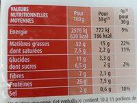 Bénénuts Cacahuètes grillées à sec maxi format - Voedingswaarden - fr