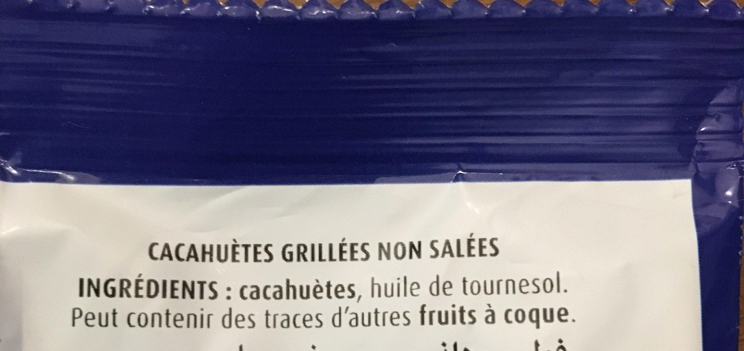 Cacahuètes non salées - Ingrédients