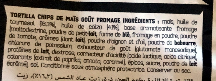 Nacho cheese - Ingrediënten - fr