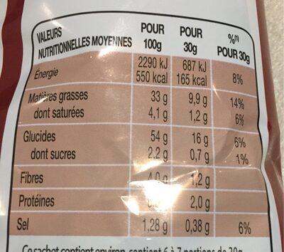 Chips saveur poulet rôti - Informations nutritionnelles - fr