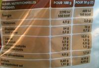 Saveur Poulet Rôti - Informations nutritionnelles
