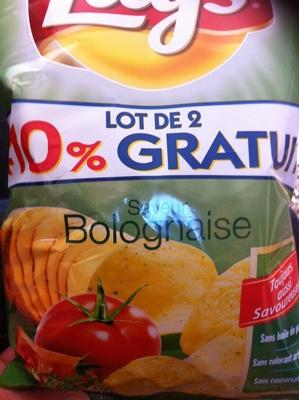 Chips saveur bolognaise (lot de 2, +10% gratuit) - Product