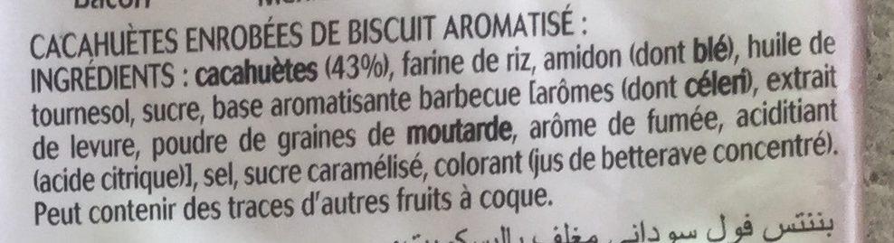 Bénénuts Twinuts Cacahuète enrobée croustillante goût barbecue - Ingrédients - fr