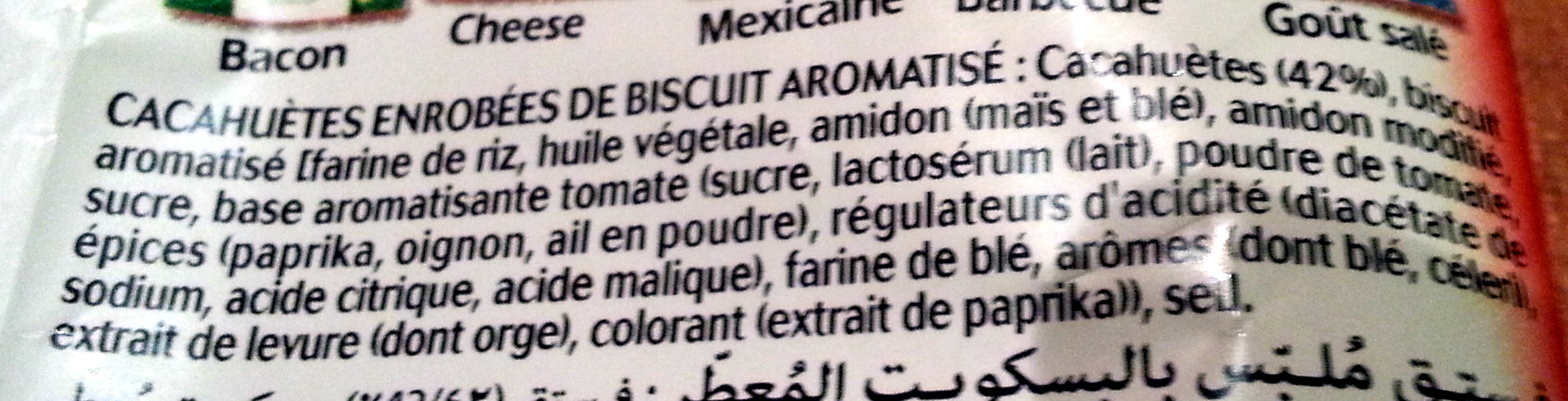 Twinuts goût tomate - Ingredients - fr