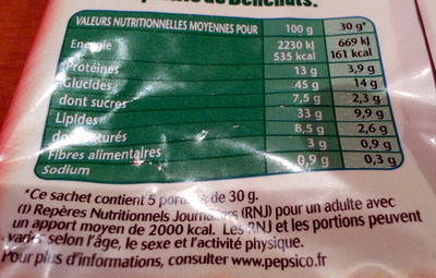 Twinuts goût tomate - Nutrition facts - fr