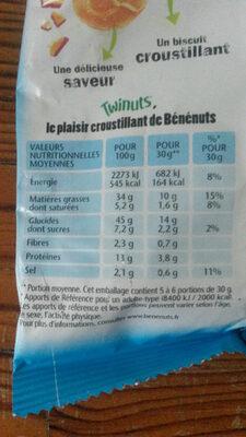 Benenuts twinuts original sel 150gx2+10% gratuit - Produit - fr