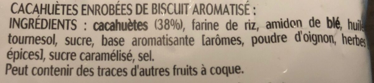 Benenuts twinuts original sel 150gx2+10% gratuit - Ingrédients - fr
