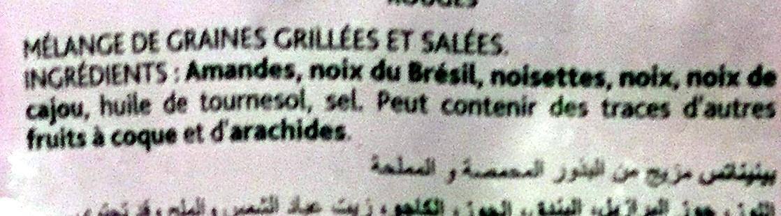 Cocktail de Noix Nobles grillées et salées - Ingrédients