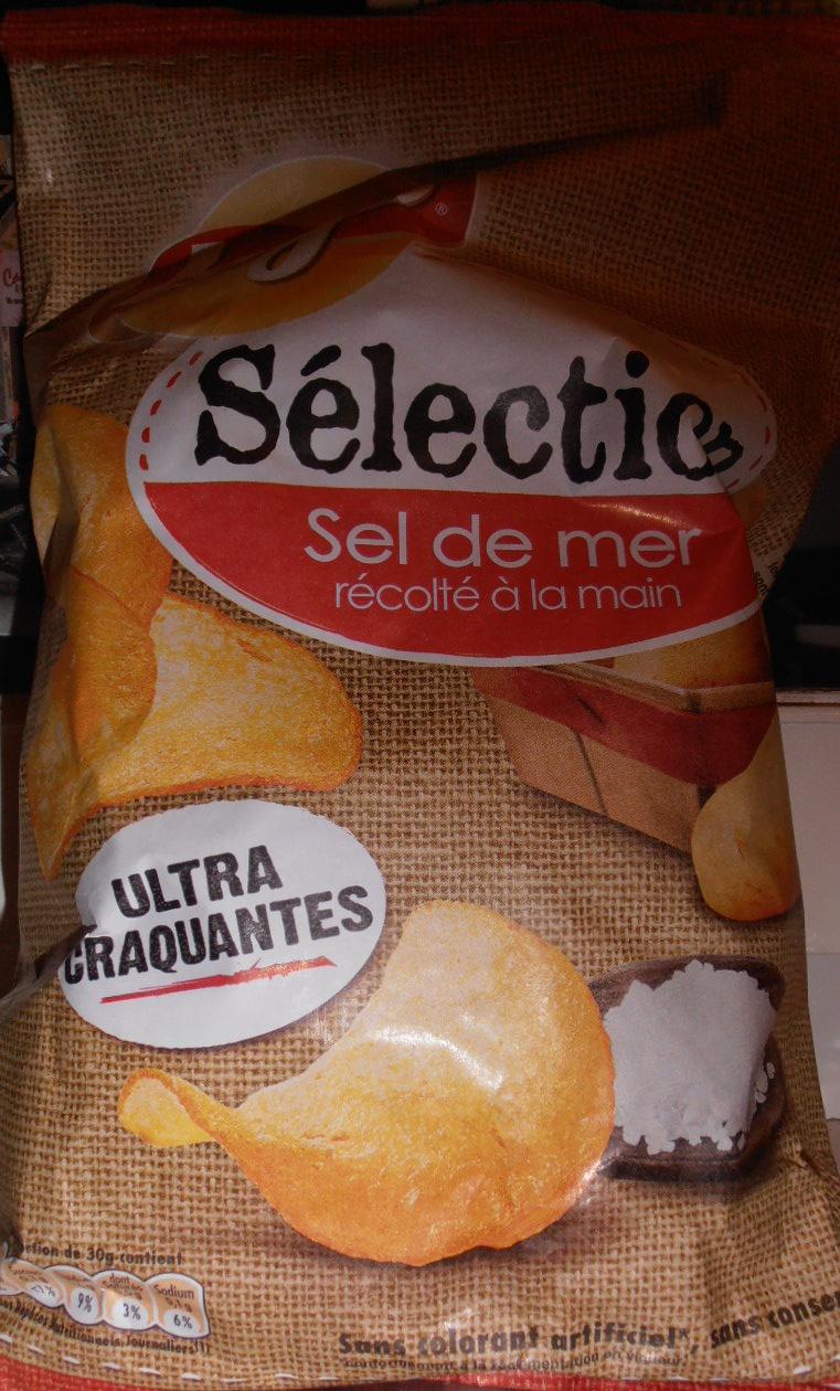Chips sélection au sel de mer chips de pomme de terre au goût nature - Product