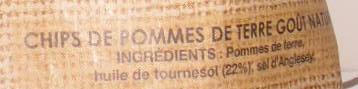Chips sélection au sel de mer chips de pomme de terre au goût nature - Ingrediënten