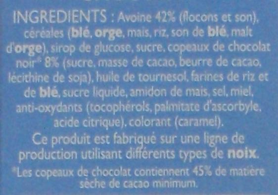 Life chocolat - Pépites & pétales croustillants à l'avoine - Ingrediënten - fr