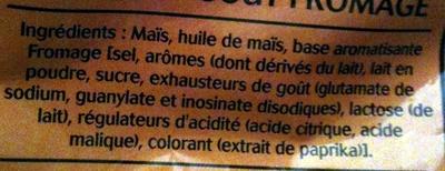 Pop Corn Apéro, Goût Fromage - Ingrediënten - fr