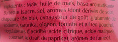 Pop Corn Apéro, Goût Barbecue - Ingrediënten - fr